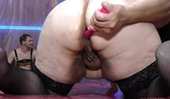 Obesa morbida hace un numero porno