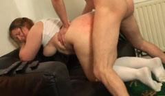 Gordita zorra sodomizada por un tío mayor